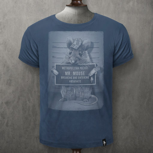 Dirty Velvet Mr Mouse Denim Blue Tee