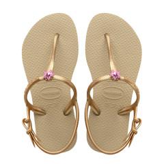 Havaianas Kids Freedom Sand Gold Flip Flops