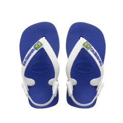 Havaianas Baby Flip Flops Brasil Logo Marine Blue