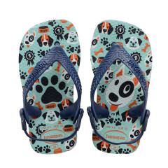 Havaianas Baby Flip Flops Pets Ice Blue/Navy