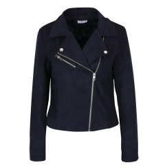Only JDY Penny Cropped Faux Suede Biker Jacket