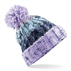 Unisex Knitted Chunky Pom Pom Beanie Lavender Fizz