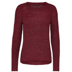 Only Geena Sundried Tomato Loose Knit Jumper