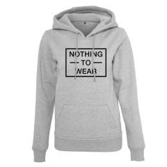 Nothing to wear ladies grey slogan hoody