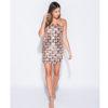 Parisian Rose Gold Sequin Bandeau Bodycon Mini Dress