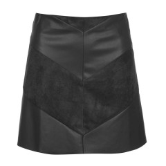 Only JDY Kristina Black Faux Leather Skirt