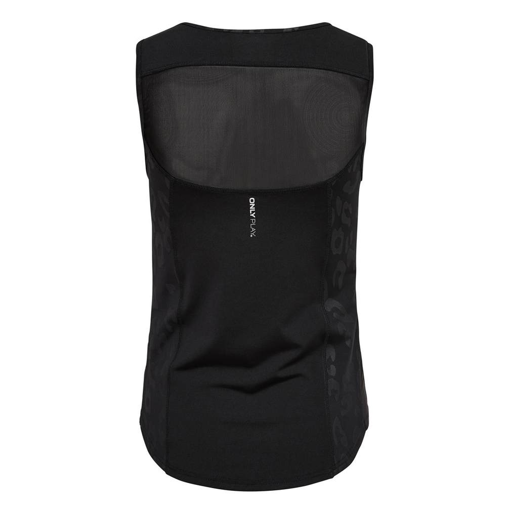 Only Play Ladies Sheila Sports Vest Black AOP