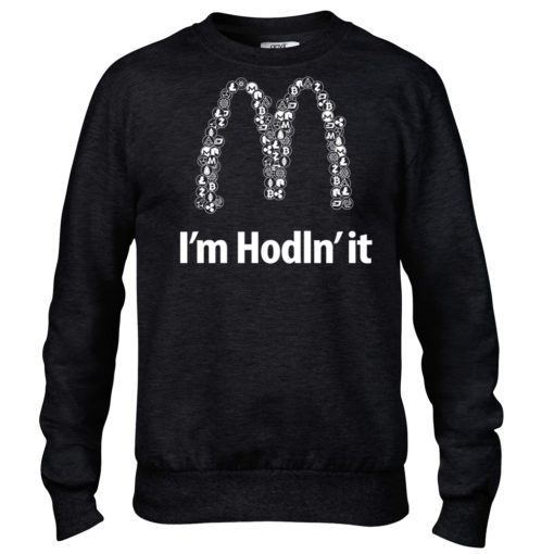 I'm Hodln' It Cryptocurrency Crew Black Mens Bitcoin Ethereum Ripple BTC