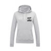 ESTABLISHED YEAR OF BIRTH LADIES GREY HOODIE