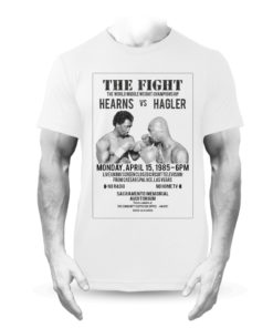 Hagler Vs Hearns Fight Poster T-Shirt White