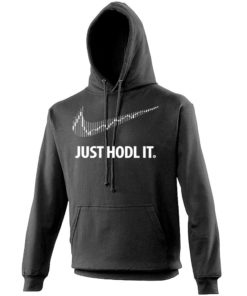 Just Hodl It Cryptocurrency Hoodie Black Mens Bitcoin Ethereum Ripple BTC