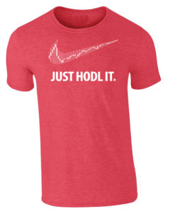 Just Hodl It Cryptocurrency T-Shirt Heather red Mens Bitcoin Ethereum Ripple BTC