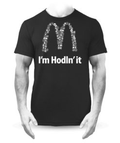 I'm Hodln'It Cryptocurrency T-shirt Black Mens Bitcoin Ethereum Ripple BTC