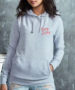 SORRY NOT SORRY LADIES GREY HOODIE