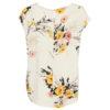 B.Young Irianna Cream Floral Print Top