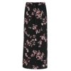 B.Young Irianna Black Floral Print Skirt