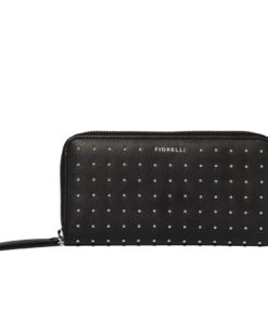 Fiorelli Ladies FWG2007 Clemence Black Stud Zip Around Purse