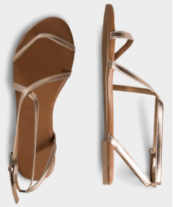 Pieces Docia Rose Gold Strappy Sandal