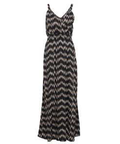 B.Young Irianna Black And Cream Printed Maxi Dress