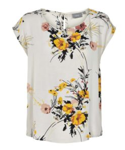 B.Young Irianna Cream Floral Print Top
