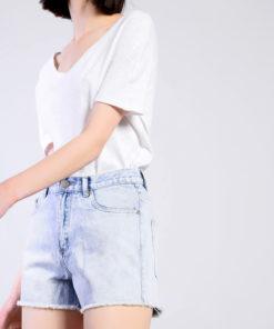 Glamorous Bleach Wash Denim Shorts