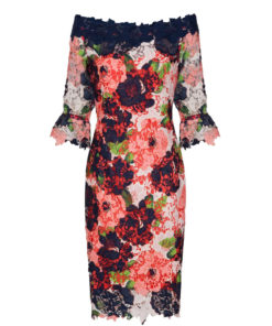 Paper Dolls Bloom Lace Bardot Dress