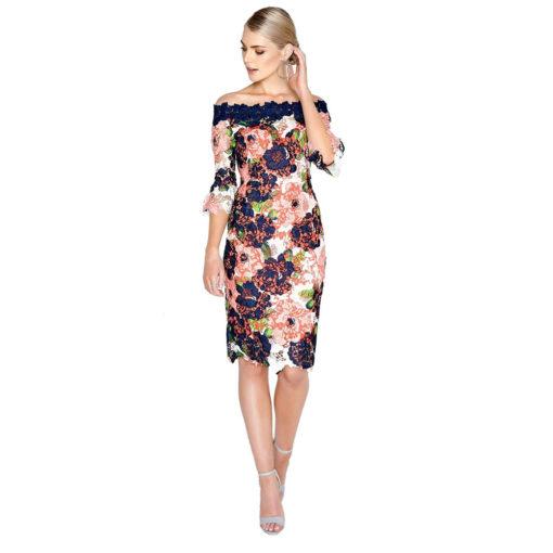 Paper Dolls Bloom Lace Bardot Dress