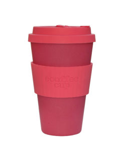 Reusable Ecoffee Coffee Cup Pink'd 14oz