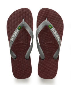 Havaianas Mens Brasil Logo Grape Wine Flip Flops