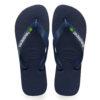 Havaianas Mens Brasil Logo Navy Blue Flip Flops