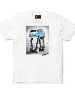 Chunk Mens Star Wars Walking Camper White T-shirt