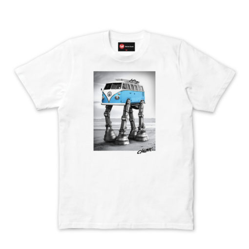 Chunk Mens Star Wars Walking Camper White T-shirt