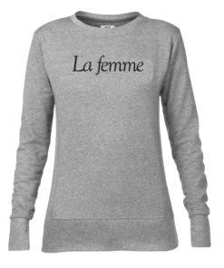 LA FEMME LADIES GREY CREW