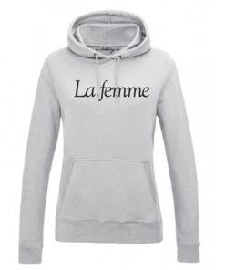 LA FEMME LADIES GREY HOODY