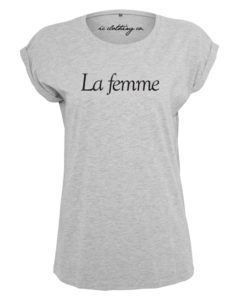 LA FEMME LADIES GREY T-SHIRT