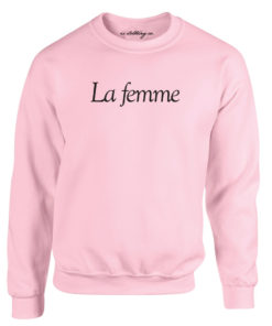 LA FEMME LADIES LIGHT PINK CREW