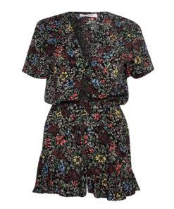 Glamorous Black Floral Playsuit