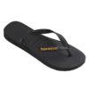 Havaianas womens logo metallic black flip flops