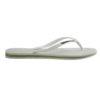 Havaianas Womens Slim Brasil Logo White Flip Flops