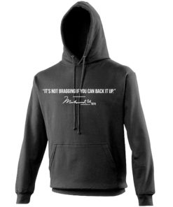 Muhammad Ali Bragging Quote Black Hoody