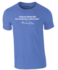 Muhammad Ali Postage Stamp Quote Royal Blue T-Shirt