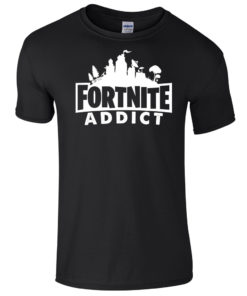 Fortnite Addict Black T-Shirt