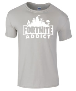 Fortnite Addict Grey T-Shirt
