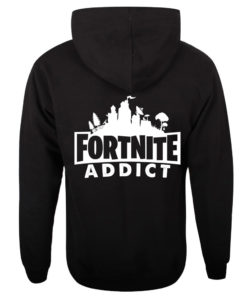 Fortnite Addict Black Zip Hoody