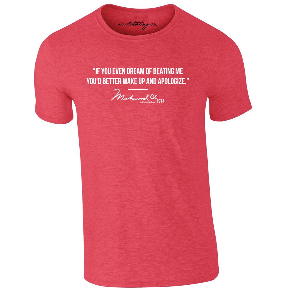 Muhammad Ali Dream Of Beating Me Quote Premium T-shirt Boxing