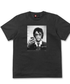 Chunk Elvis Mugshot Black T-Shirt