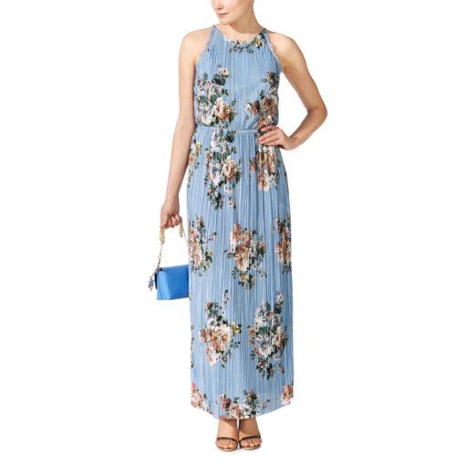 Vila Vibmaxi Cashmere Blue Dress