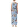 Vila Vibmaxi Cashmere Blue Dress 2