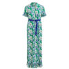 Vila Vispringflow Green Maxi Dress