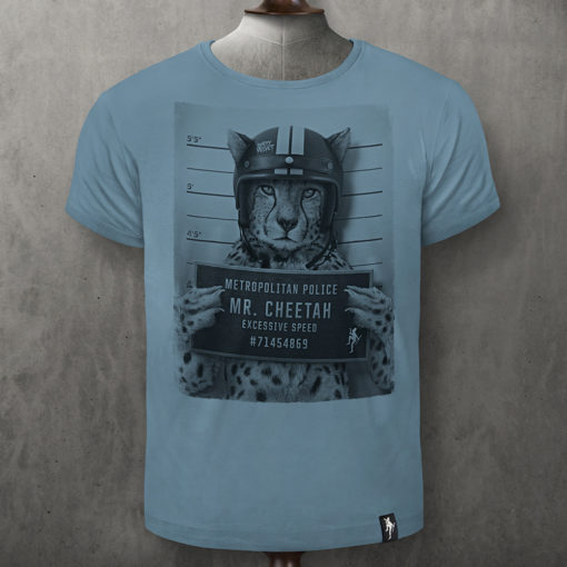 Dirty Velvet Mr Cheetah Noble Blue Tee
